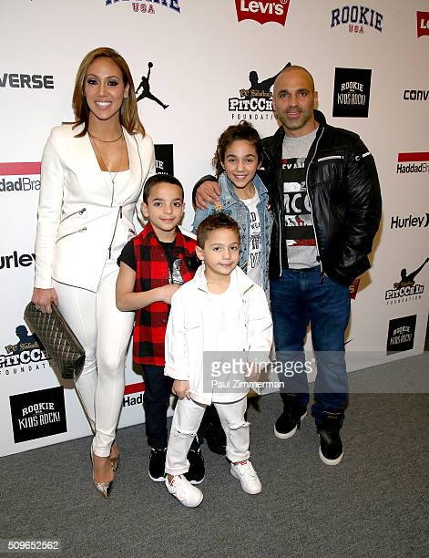 Melissa Gorga Gino Gorga Joey Gorga Antonia Gorga and Joe Gorga pose backstage at the Rookie USA Presents Kids Rock Front Row Backstage Fall 2016 New...