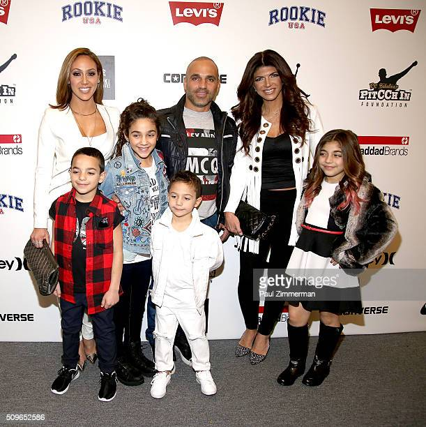 Melissa Gorga Gino Gorga Joey Gorga Antonia Gorga Joe GorgaTeresa Giudice and Milania Giudice pose backstage at the Rookie USA Presents Kids Rock...