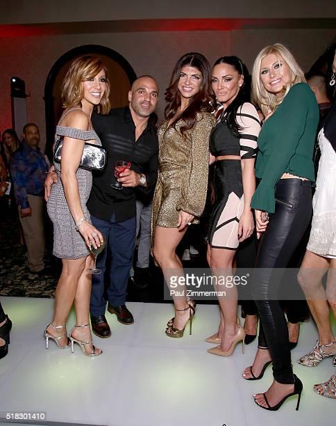 Melissa Gorga Joe Gorga Teresa Giudice and Priscillia DiStasio attend the envy By Melissa Gorga Fashion Show at Macaluso's on March 30 2016 in...