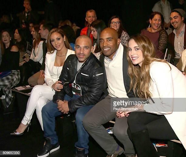 Melissa Gorga, Joe Gorga, Tiki Barber and Traci Lynn Johnson attend the Rookie USA Presents Kids Rock! - Front Row & Backstage - Fall 2016 New York...