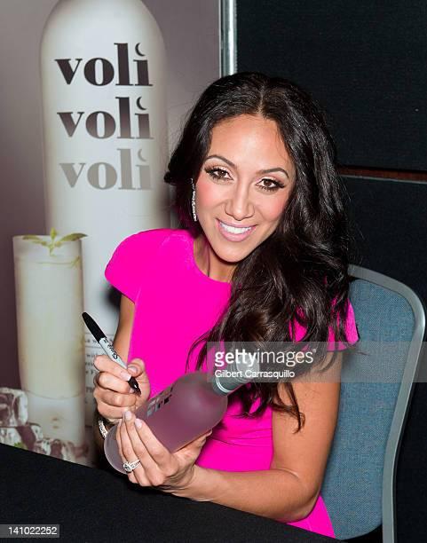 Melissa Gorga promotes Voli Light Vodka during the 2012 Philadelphia International Flower show at the Pennsylvania Convention Center on March 9 2012...