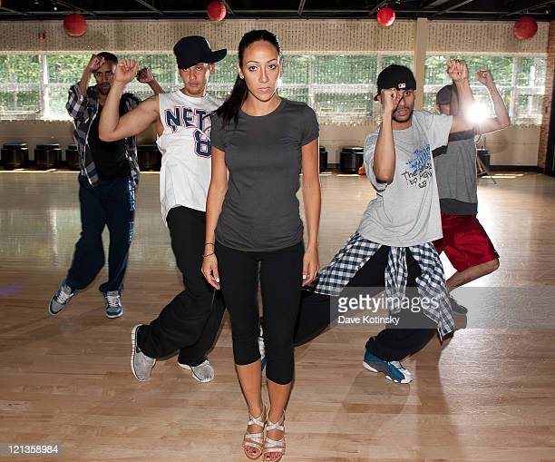Melissa Gorga rehearses at The Fred Astaire Dance Studio on August 18 2011 in Montville New Jersey