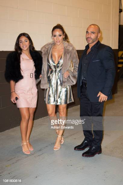 Melissa Gorga with husband Joe Gorga and daughter Antonia Gorga at the party for the premiere of Second Act on December 12 2018 in New York City