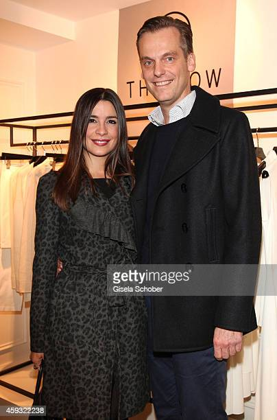 Melissa Graefin von FaberCastell and Timm Golueke pose during MaryKate Olsen and Ashley Olsen present their collection 'The Row' at Marion Heinrich...