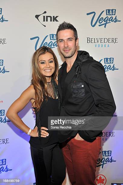 Melissa Grelo and Ryan Gaggi attend Vegas Forever at Uniun Nightclub on May 9 2013 in Toronto Canada