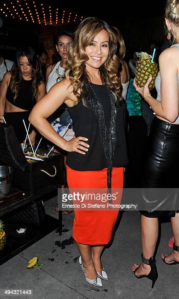Melissa Grelo attends the CîROC Le Beat Tropique Toronto at EFS Lounge on May 28 2014 in Toronto Canada