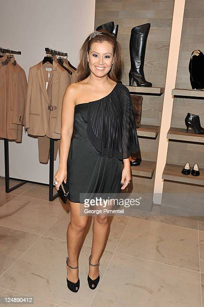 Melissa Grelo attends the MaxMara Event at the MaxMara store on Bloor St on September 13 2011 in Toronto Canada