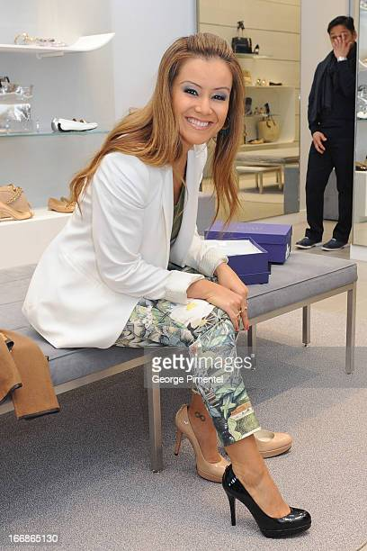 Melissa Grelo attends the opening of the Stuart Weitzman Boutique on April 17 2013 in Toronto Ontario Canada