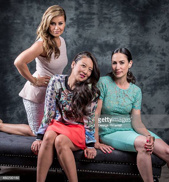 Melissa Grelo Lainey Lui and Cynthia Loust pose for a portrait during CTV 2014 Upfront at Sony Centre for the Performing Arts on June 5 2014 in...