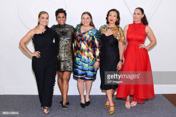 Melissa Grelo Marci Ien Jessica Allen Elaine Lui and Cynthia Loyst attend CTV Upfronts 2018 held at Sony Centre For Performing Arts on June 7 2018 in...