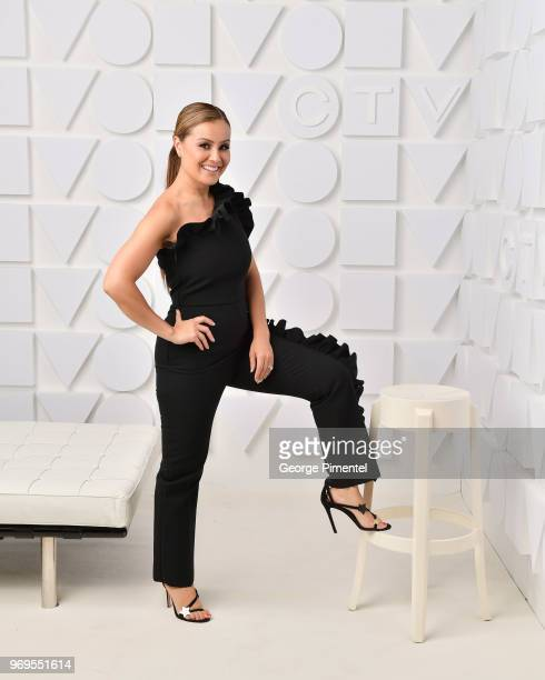 Melissa Grelo poses at the CTV Upfronts portrait studio held at the Sony Centre For Performing Arts on June 7 2018 in Toronto Canada