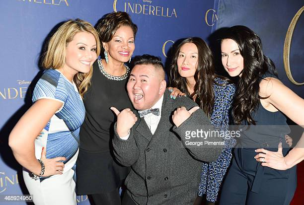 Melissa Grelo Traci Melchor Will Wong Elaine Lui Cynthia Loyst attend the Toronto Special screening of Disney's 'Cinderella' held at Scotiabank...