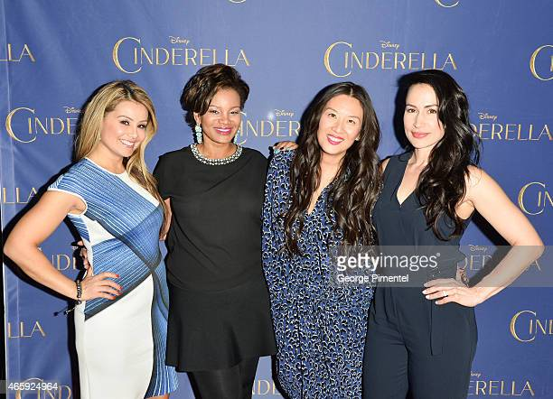 Melissa GreloTraci MelchorElaine Lui and Cynthia Loyst attend the Toronto Special screening of Disney's 'Cinderella' held at Scotiabank Theatre on...