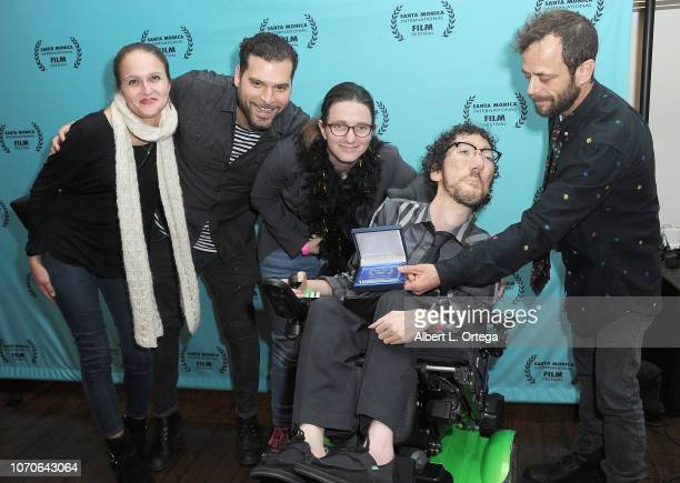 Melissa Harkness Mig Feliciano Gabriel Carnick Michael Carnick and David Cass attend the 2018 Santa Monica International Film Festival Award Show...