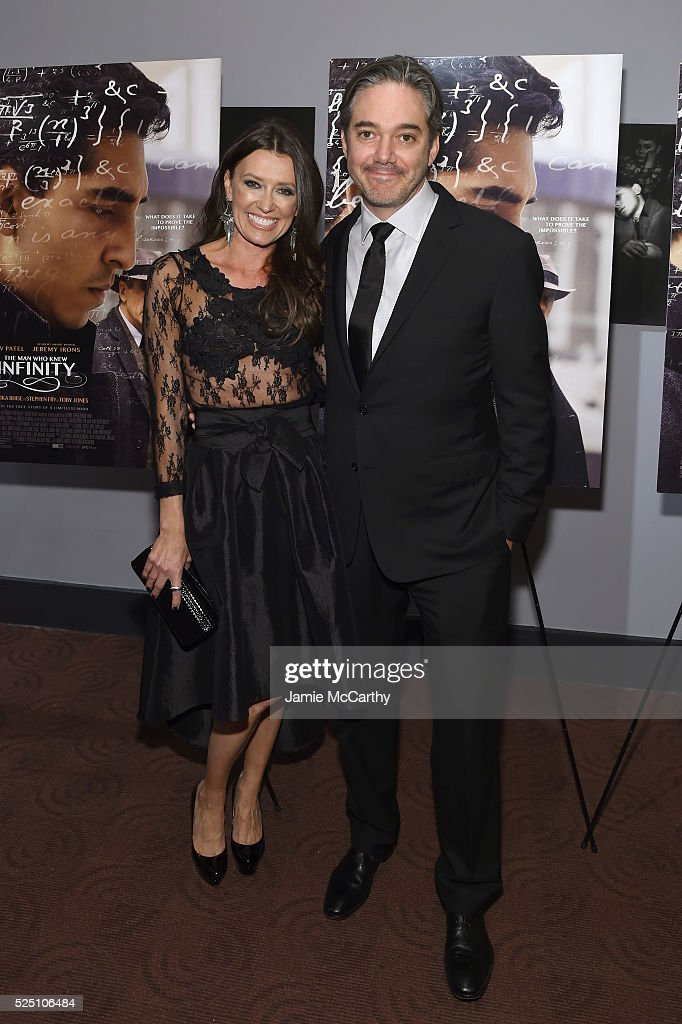 Melissa Harrington (L) and Director Matthew Brown attend 'The Man Who Knew Infinity' New York Screening at Chelsea Bow Tie Cinemas on April 27, 2016 in New York City.