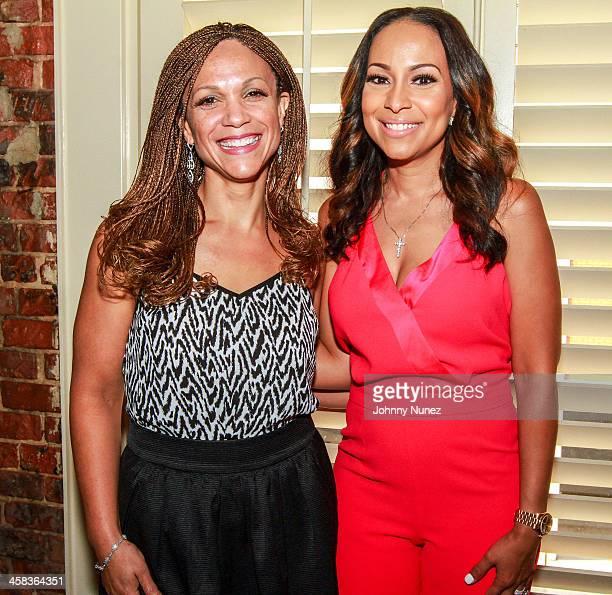 Melissa HarrisPerry and Valeisha Butterfield Jones attend the 2016 Google Black Women's Leadership Dinner at August Restaurant on July 1 2016 in New...