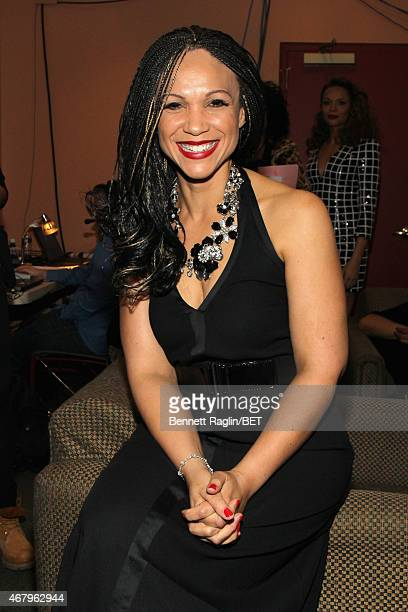 Melissa HarrisPerry poses backstage at Black Girls Rock BET Special at NJPAC – Prudential Hall on March 28 2015 in Newark New Jersey