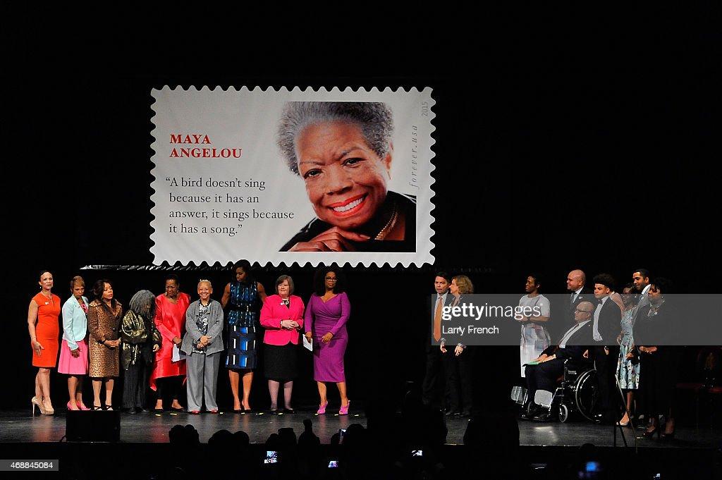 Maya Angelou Forever Stamp Dedication : News Photo
