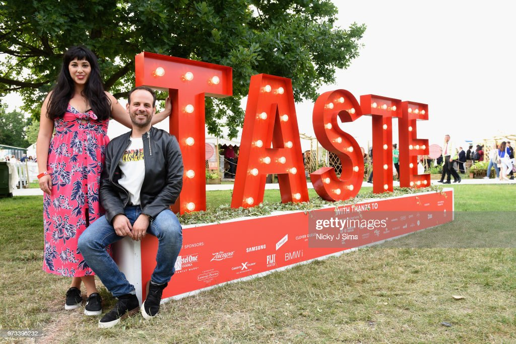 Melissa Hemsley and Greg Marchand at the opening night of Taste of London (running 13th-16th June) at Regents Park on June 13, 2018 in London, England.