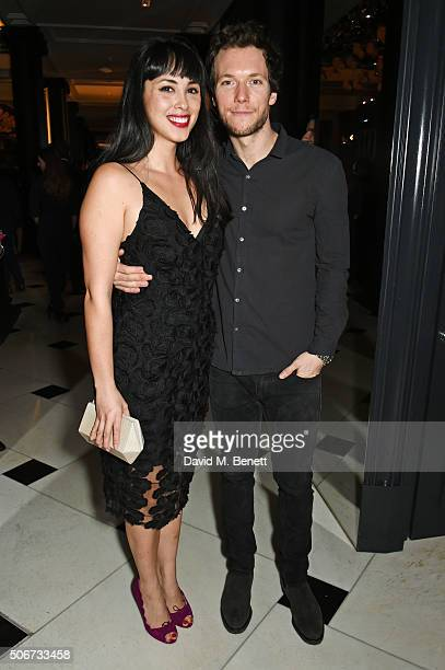 Melissa Hemsley and Henry Relph attend Debrett's 500 party hosted at Rosewood London on January 25 2016 in London England Debrett's 500 recognises...
