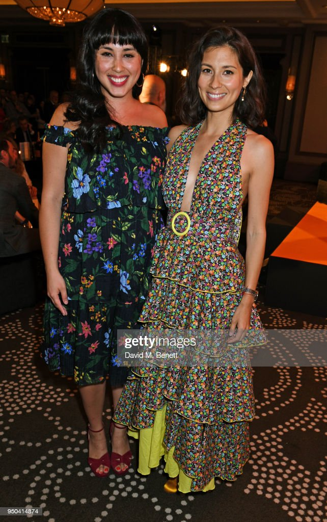 Melissa Hemsley (L) and Jasmine Hemsley attend the GQ Food & Drink Awards at Rosewood London on April 23, 2018 in London, England.
