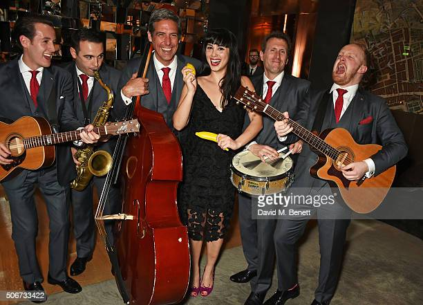 Melissa Hemsley and The London Essentials attend Debrett's 500 party hosted at Rosewood London on January 25 2016 in London England Debrett's 500...