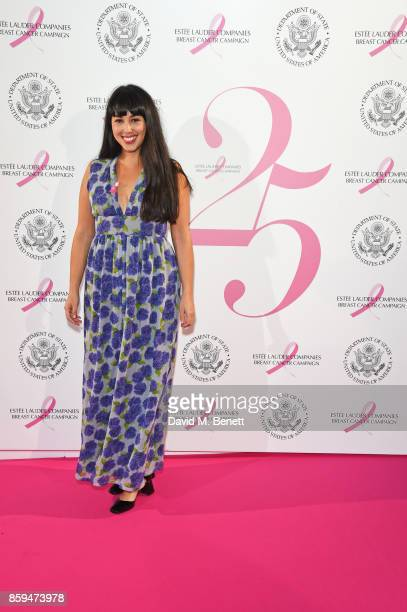 Melissa Hemsley attends the 25th Anniversary of the Estee Lauder Companies UK's Breast Cancer Campaign at the US Ambassadors Residence Winfield House...