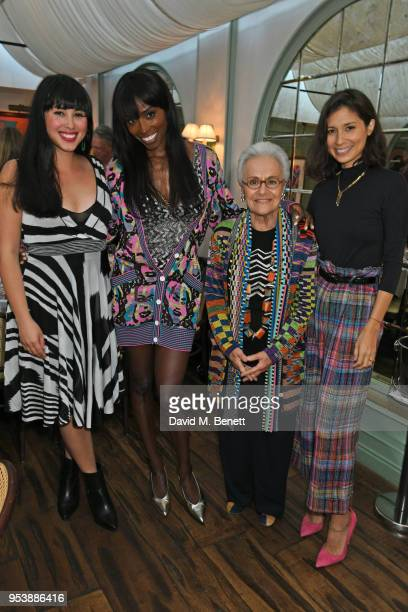 Melissa Hemsley, Lorraine Pascale, Rosita Missoni and Jasmine Hemsley attend a dinner hosted by the Missoni family to launch their new cookbook at...