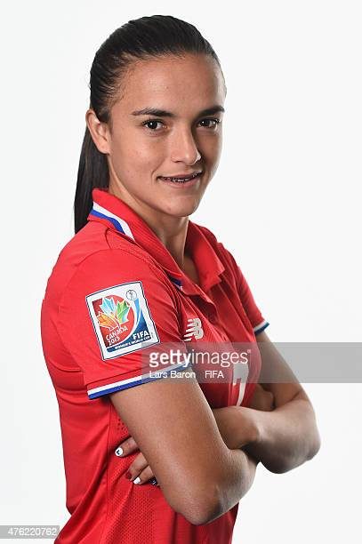 Melissa Herrera of Costa Rica poses during the FIFA Women's World Cup 2015 portrait session at Sheraton Le Centre on June 6 2015 in Montreal Canada