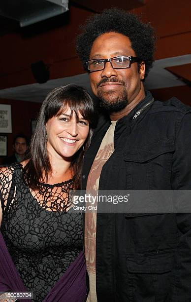 Melissa Hudson Bell and W Kamau Bell atttend the FX Totally Biased New York Premiere at Empire Hotel on August 9 2012 in New York City
