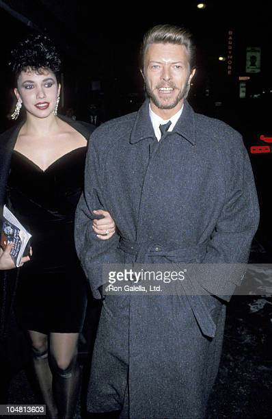 """Melissa Hurley and David Bowie during Opening of """"Metamorphosis"""" at Barrymore Theater in New York City, NY, United States."""