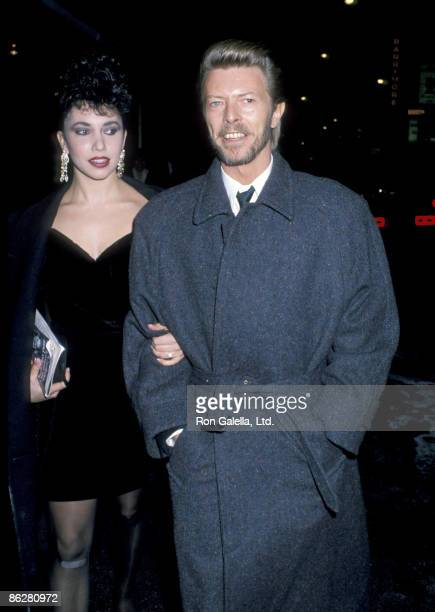 Melissa Hurley and David Bowie