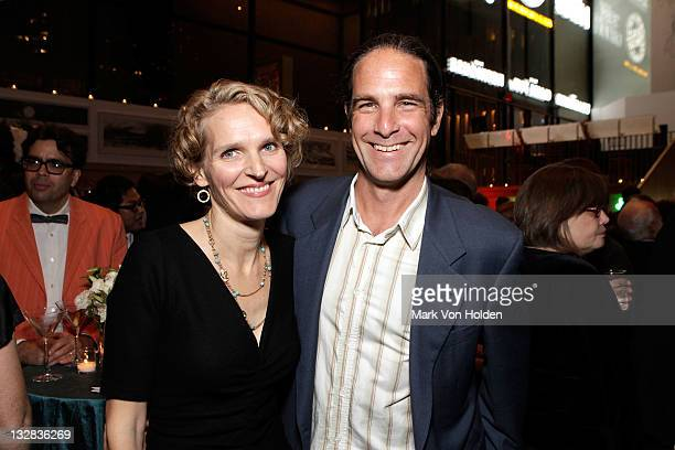 Melissa James Gibson and guest attend The 2011 Steinberg Playwright Mimi Awards presented by The Harold and Mimi Steinberg Charitable Trust at...