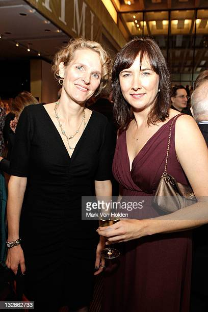 Melissa James Gibson and Lisa D'Amour attend The 2011 Steinberg Playwright Mimi Awards presented by The Harold and Mimi Steinberg Charitable Trust at...