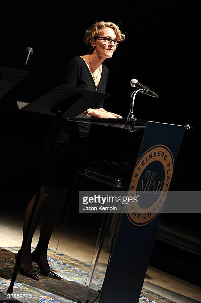 Melissa James Gibson speaks at The 2011 Steinberg Playwright Mimi Awards presented by The Harold and Mimi Steinberg Charitable Trust at Lincoln...