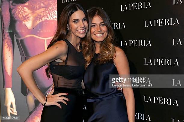 Melissa Jimenez and Coral Simanovich attend the 'La Perla' store opening at Palau Sant Jordi on November 26 2015 in Madrid Spain