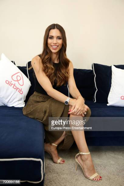 Melissa Jimenez attends Airbnb event on June 13 2017 in Madrid Spain