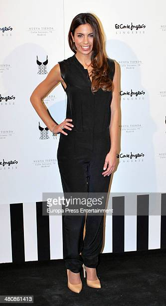 Melissa Jimenez attends the Serrano Lingerie Cocktail Party at El Corte Ingles Serrano Store in Madrid on March 26 2014 in Madrid Spain