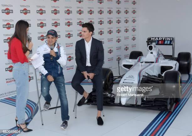 Melissa Jimenez Felipe Massa and Alex Gonzalez attend the inauguration for the Terrazza Martini at Port Vell on May 11 2017 in Barcelona Spain