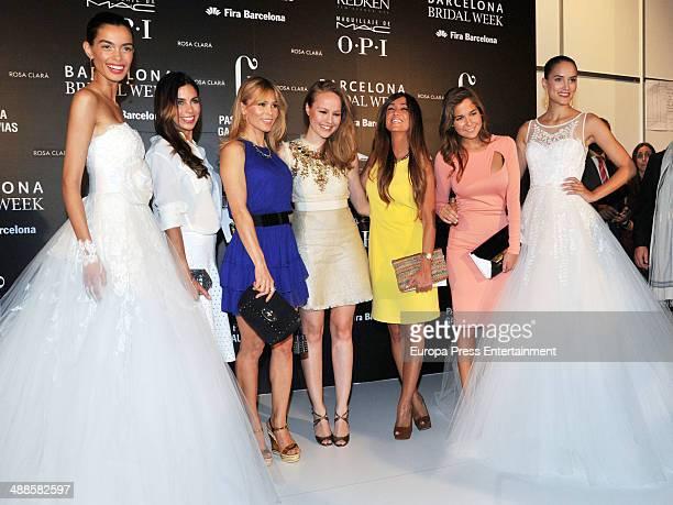 Melissa Jimenez Yolanda Cardona Esmeralda Moya Marta Gonzalez and Natalia Sanchez attend the Rosa Clara fashion show during 'Barcelona Bridal Week...