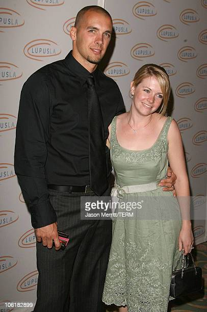 Melissa Joan Hart and husband Mark Wilkerson during Love Light and Laughter to Lupus LA at Beverly Hills Hotel in Beverly Hills California United...