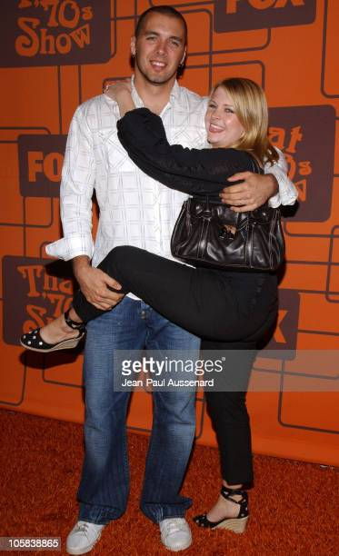 Melissa Joan Hart and husband Mark Wilkerson during That '70s Show Series Wrap Party Arrivals at Tropicana at Hollywood Roosevelt Hotel in Hollywood...