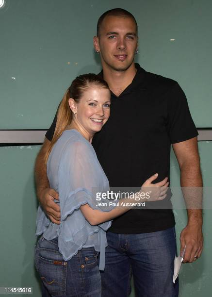 Melissa Joan Hart and Mark Wilkerson during School of Rock Premiere Arrivals at Cinerama Dome in Hollywood California United States