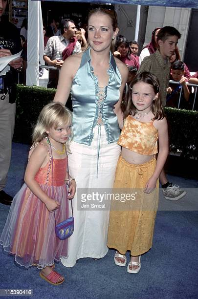 Melissa Joan Hart and sisters during ATLANTIS The Lost Empire Los Angeles Premiere at El Capitan Premiere in Los Angeles California United States