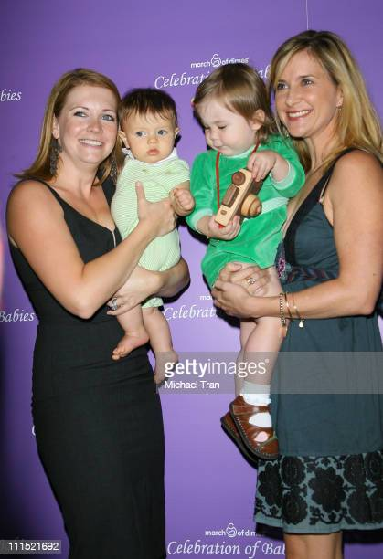 Melissa Joan Hart and son Brayden with Kellie Martin and daughter Maggie arrive at the Celebration of Babies silent auction and luncheon to benefit...