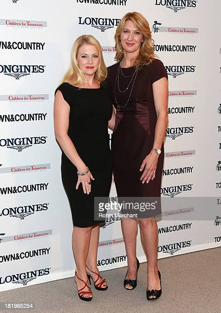 Melissa Joan Hart and Steffi Graf attends 2013 Women Making A Difference Awards at Hearst Tower on September 26 2013 in New York City