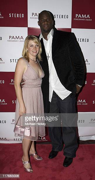 Melissa Joan Hart and Vince Young during Pama Pomegranate Liqueur Presents Stereo at Derby Hosted by Vanessa Minnillo at Stereo at Derby in...