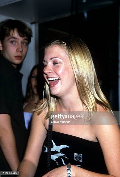 Melissa Joan Hart at Britney Spears postconcert party at Bowery Bar New York New York July 7 1999