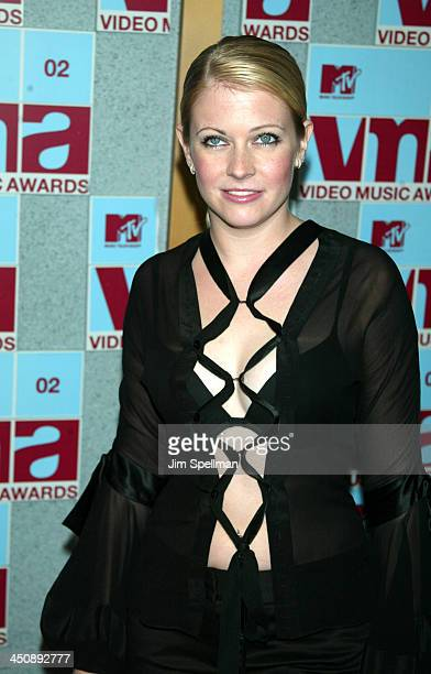 Melissa Joan Hart during 2002 MTV Video Music Awards Arrivals at Radio City Music Hall in New York City New York United States