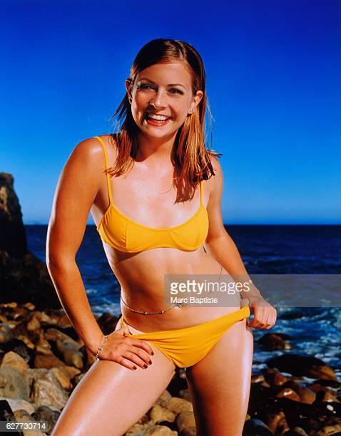 Melissa Joan Hart in Yellow Bikini